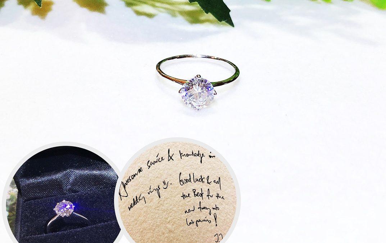 Lab-Created Diamond Engagement Ring