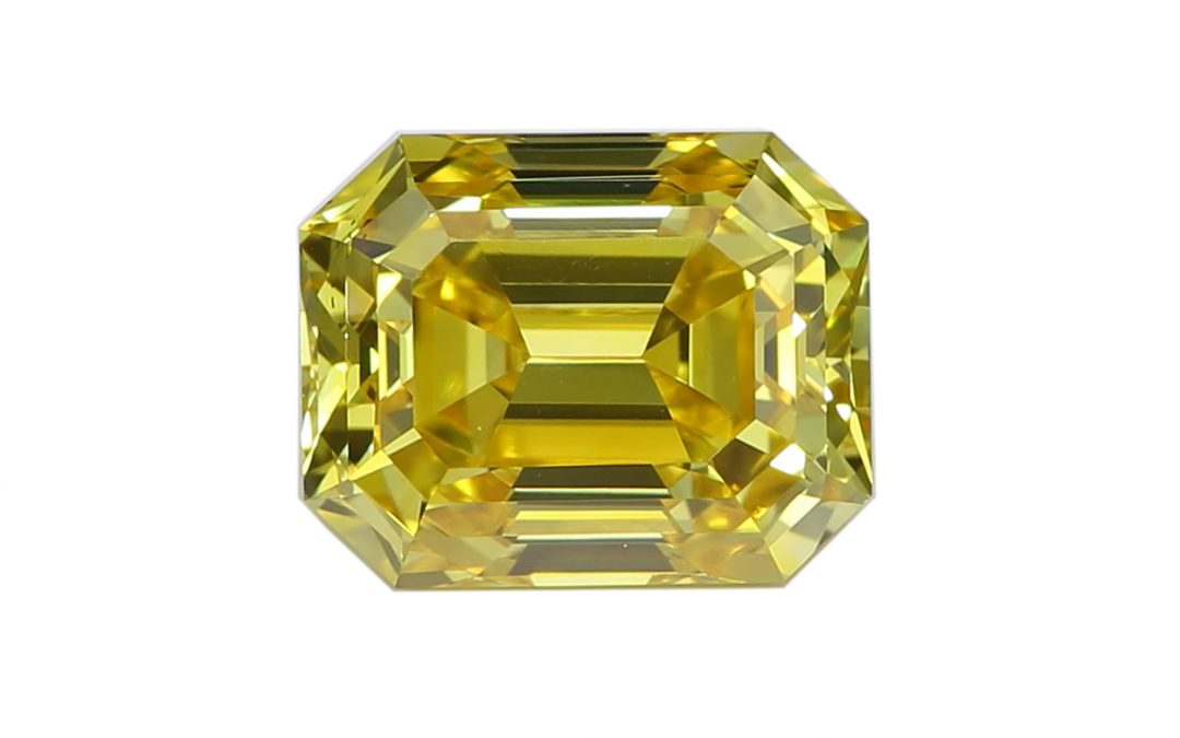 Lab-Created Diamond with Certificate, Hardness 10 – Fancy Vivid Yellow