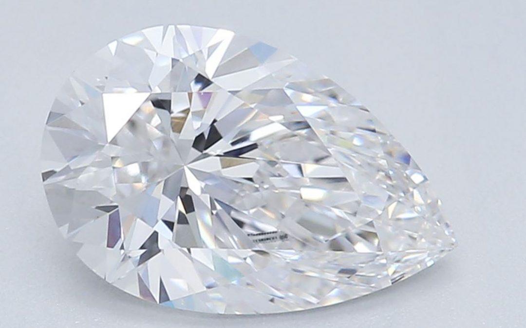 Teardrop Diamond, Pear Brilliant Cut